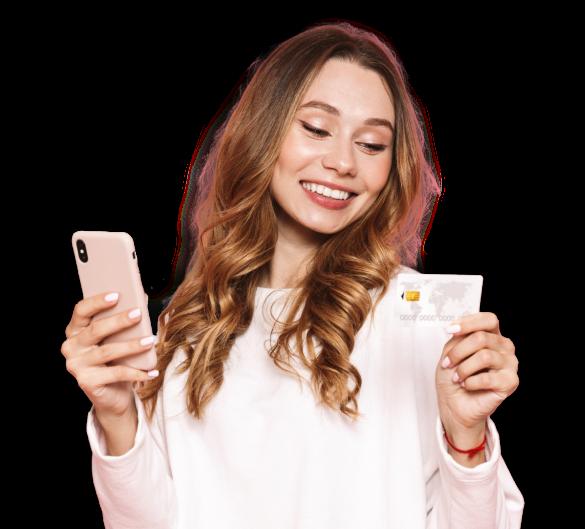 Woman phone (cutout) 1